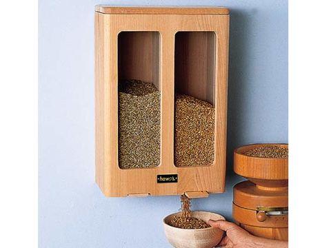 Hawos Getreidesilo Buchengehäuse für 2x5kg