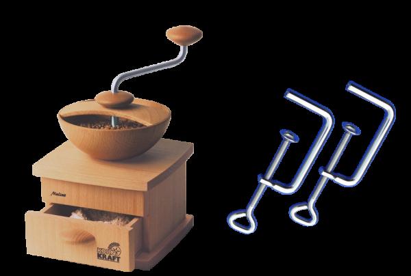 Mulino-Set mit 2 Tischklammern
