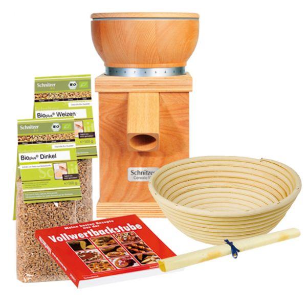 Geschenkset, Cerealo Getreidemühle 100 Natur, Schnitzer